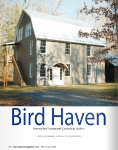 Bird Haven: Home of the Shenandoah Community Works | Carol J Alexander