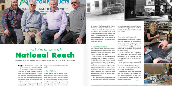 Local Business with National Reach–The Roanoker, May/June 2018