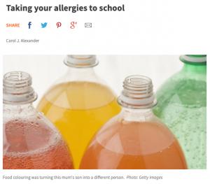 Taking Your Allergies to School | Carol J Alexander