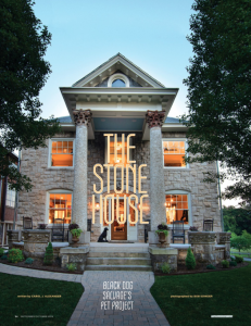 Black Dog Salvage Stone House | Carol J Alexander