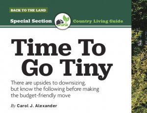 Living in a Tiny House | Carol J Alexander