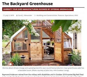 The Backyard Greenhouse | Carol J Alexander