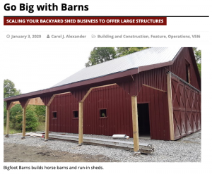 Go Big with Barns | Carol J Alexander