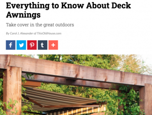 Everything to Know about Deck Awnings | Carol J Alexander