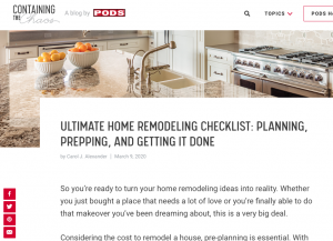 Ultimate Home Remodeling Checklist | Carol J Alexander
